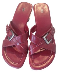 Brass Plum Red Sandals