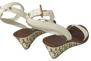 Tory Burch white Wedges