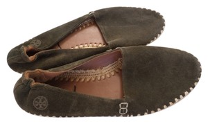 Tory Burch OLIVE GREEN SUEDE Flats