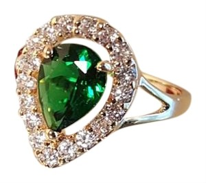 Other Emerald Green GP Ring with CZ
