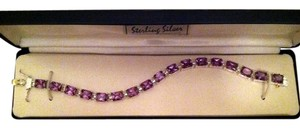 Sterling Collection Sterling Silver Amethyst Tennis Bracelet