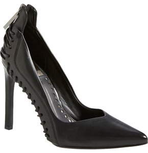 Dolce Vita Edgy Pointed Toe Classic Leather Strappy Black Pumps