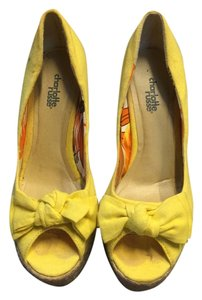 Charlotte Russe Summer Casual Bright Yellow Wedges