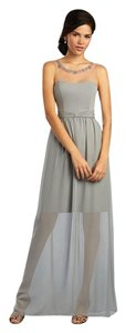 Alfred Angelo Cameo / Smoke Sapphire 8102l / 16 Formal Bridesmaid/Mob Dress Size 14 (L)
