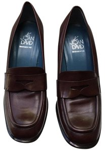 Joan & David Penny Loafer Classic Leather Burgundy Brown Pumps