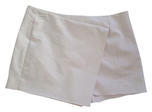 Express Asymmetrical Mini Skirt White