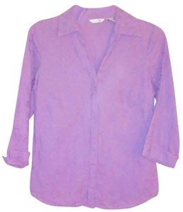 Richard Malcolm Floral Button Down Shirt Purple
