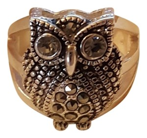 Owl Silver Plated Ring size 8