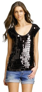 Tory Burch Sequin Cotton Top Browns & Black