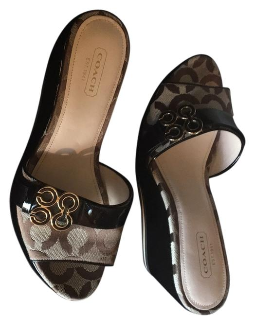 Item - Brown & Tan Geri Mules/Slides Size US 7 Regular (M, B)