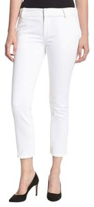 DL1961 Ankle Preppy Jeans Cropped Capris white