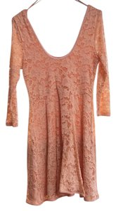 Free People short dress peach Summer Lace on Tradesy