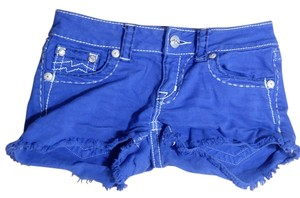 Miss Me P2032 Size 25 Cut Off Shorts blue