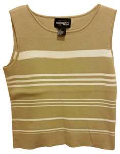 Requirements Sleeveless Stripes Sweater