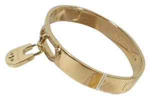 Michael Kors Nwt Michael Kors cityscape hardware crystal gold padlock bangle mkj4610710