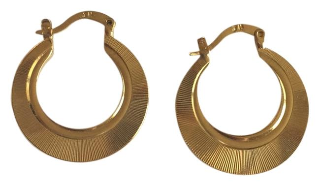 Item - Gold Gold-plated Gypsy Hoops Earrings