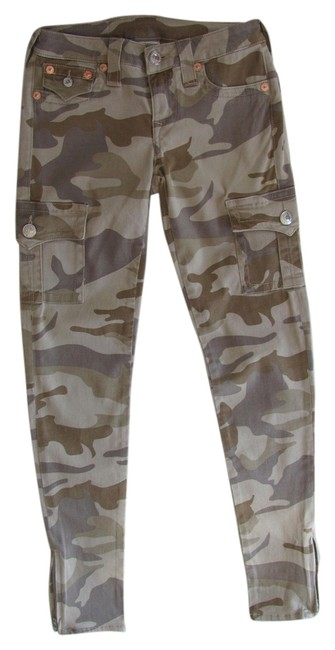 Item - Army Color Style Wxaa5301a6 Cut T1470 Cargo Jeans Size 28 (4, S)