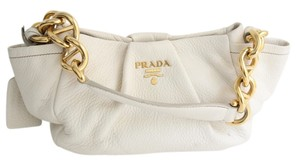Prada Gold Deerskin Shoulder Bag