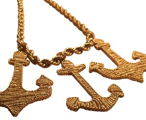 Erickson Beamon Bold Goldtone Anchor Necklace
