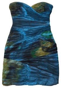 BCBGMAXAZRIA short dress Dark Aquamarine/Multi (DKAQAMRINE) on Tradesy