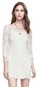 Express short dress Cream Lace on Tradesy