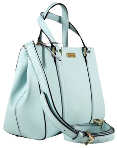 Kate Spade Saffiano Leather With Tags Satchel in Cyblue