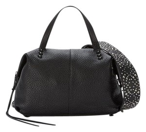 Rebecca Minkoff Rocker Festival Pebbled Satchel in Black