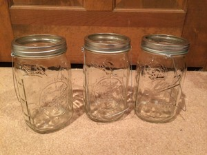 Ball Clear Glass 25 Wide Mouth Hanging Mason Jars Ceremony Decoration