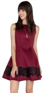 Francesca's Lace Detail Skater Dress