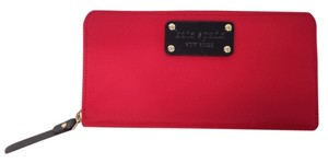 Kate Spade Kate Spade Red Nylon Zip Around Wallet Neda WLRU0437