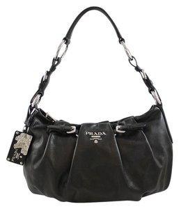 Prada Calfskin Hobo Shoulder Bag