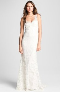 Nicole Miller Brooke Sleeveless Lace Trumpet Gown Wedding Dress