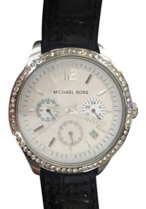 Michael Kors Michael Kors Women's Black Leather Watch