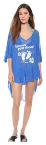 The Blue One Size High Low Bathing Suit Coverup