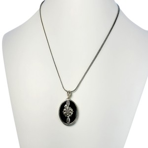 Other Black Onyx Ornate Sterling Pendant - 16