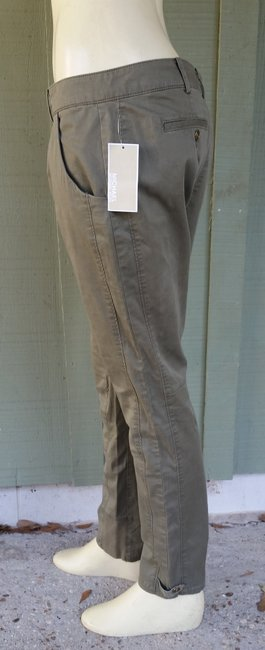 Michael by Michael Kors Skiy Cotton Olive Skinny Pants Green Image 1