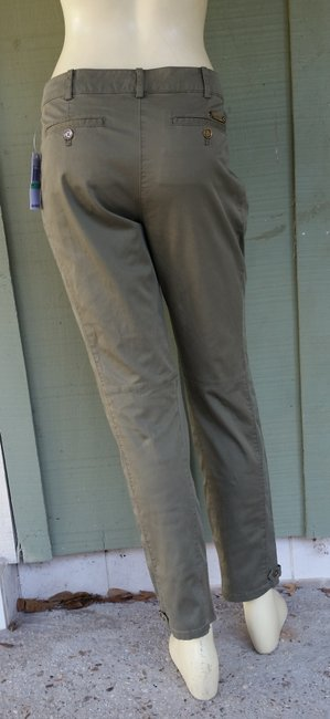 Michael by Michael Kors Skiy Cotton Olive Skinny Pants Green Image 3