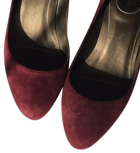 Nine West Low Heel Burgundy Pumps