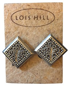 Lois Hill Rare Clip-On Earrings by Lois Hill - Sterling Silver 925