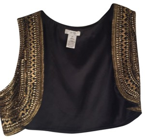 Cache : everything on sale now Vest Jeweled Casual Top Black