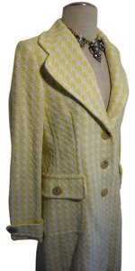 Banana Republic Contessa Couture Zig Zag Chevron Stylish Chic Stylish Multi Color Spring Oversize Summer Green Coat
