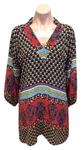 Tolani short dress Multi Colored Black and Red on Tradesy