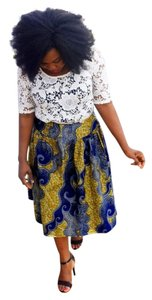 Chic Therapy African Print Skirt Multi-Color