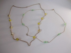 J.Crew J.crew Green Dainty Layering Necklace Yellow Ball Necklace 59 Each Set Of