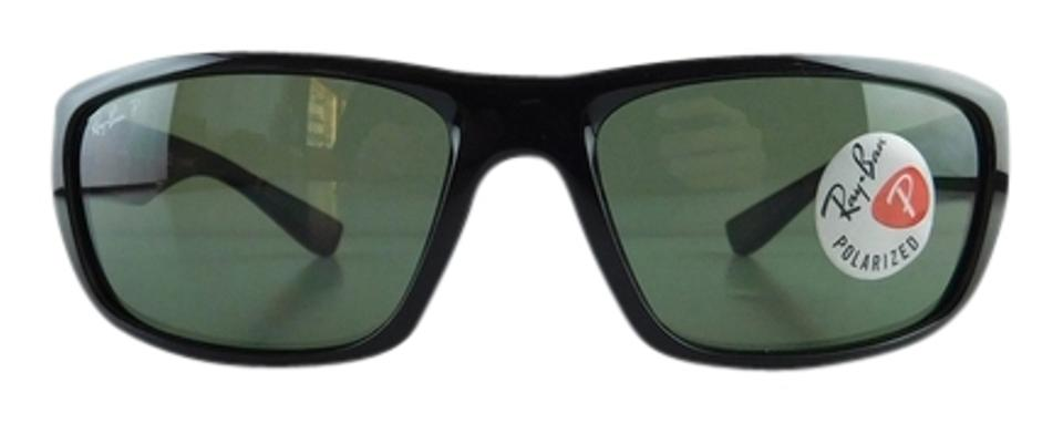 1e4cd3efde Ray-Ban Black Polarized Gray Green New 4196 601 9a Gloss Acetate Full-frame  Lens 61mm Made In Italy Sunglasses