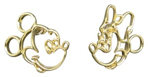 Disney Disney Earrings Mickey Minnie Mouse Pierced Gold tone
