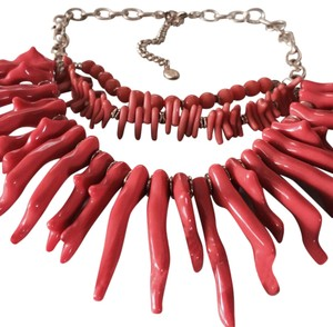 Tommy Bahama LT Havana 3 Tier Coral Chain Necklace