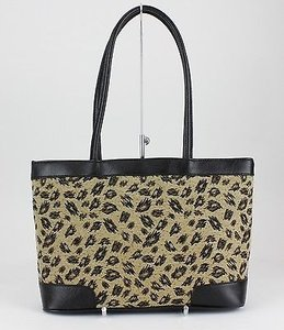 Bueno Black Tan Animal Tote in Black, Tan, Brown