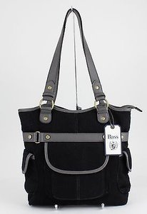 G.H. Bass & Co. Goldtone Pocket B78 Tote in Black, Gray