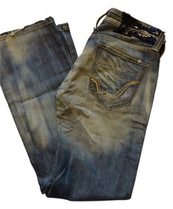 """Replay """"Limited Edition"""" Limited Edition European We Are Classic Wide Flare Leg Jeans-Medium Wash"""